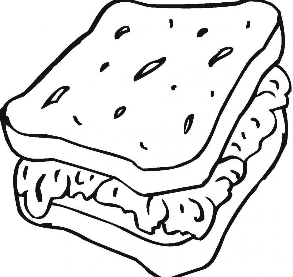 1112x1050 Best Friends Sandwich Coloring Page Food Pages Free Kids Ice Cream