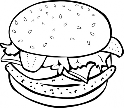 425x368 Fast Food Lunch Dinner Ff Menu Clip Art