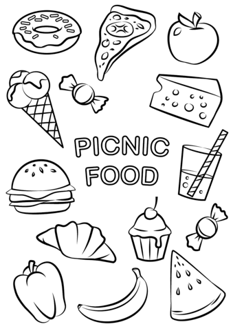 339x480 Food Coloring Drawing Food Coloring Book