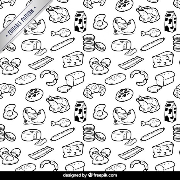 626x626 Hand Drawn Food Pattern I Free Vector Food Food