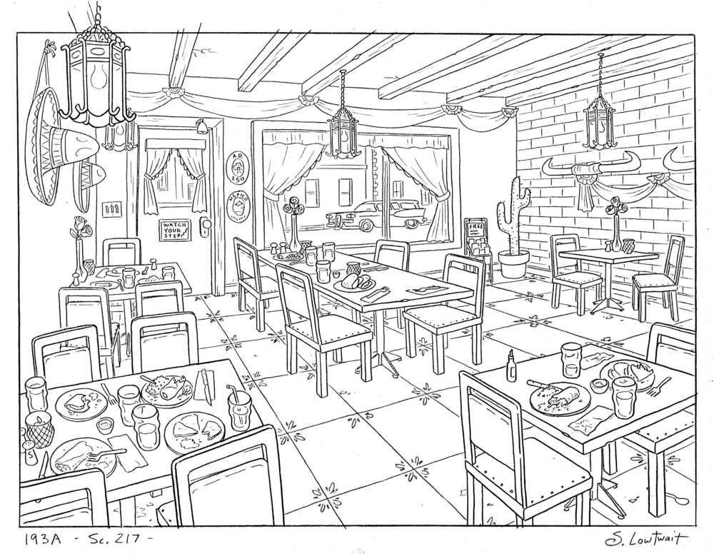 1000x779 When Drawing Restaurants, You Have To Draw Gross, Partially Eaten