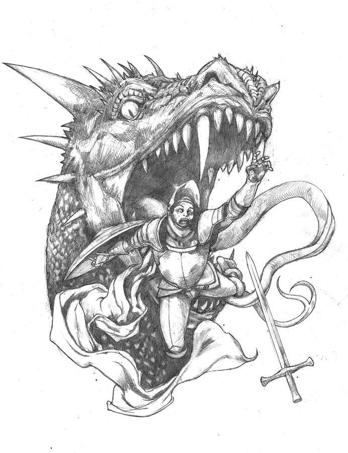 692x900 Dragon Food Drawing by Amiri Bennett