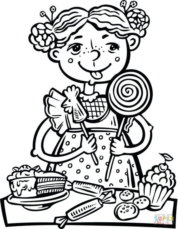 618x794 Draw Healthy Food Coloring Pages For Books With Printable Eating