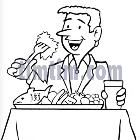 482x480 Free Drawing Of A Fish Dinner Bw From The Category Cooking Food