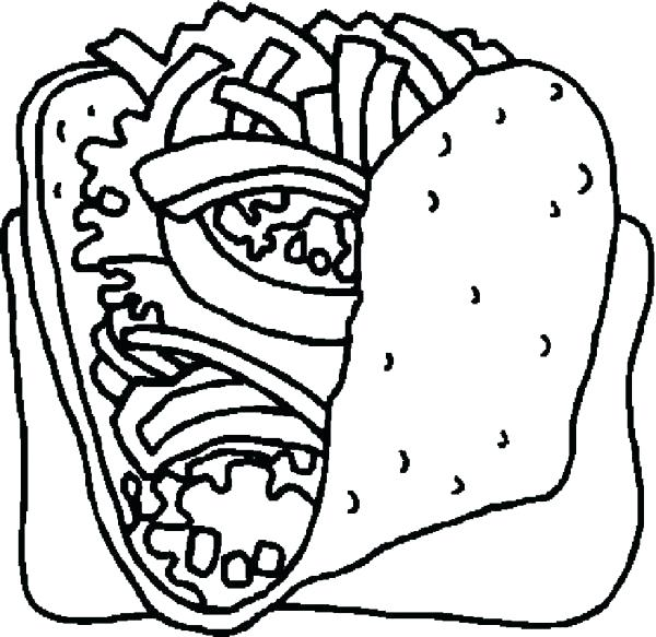 600x583 Coloring Pages Food Food Coloring Pages Coloring Pages Food Plate