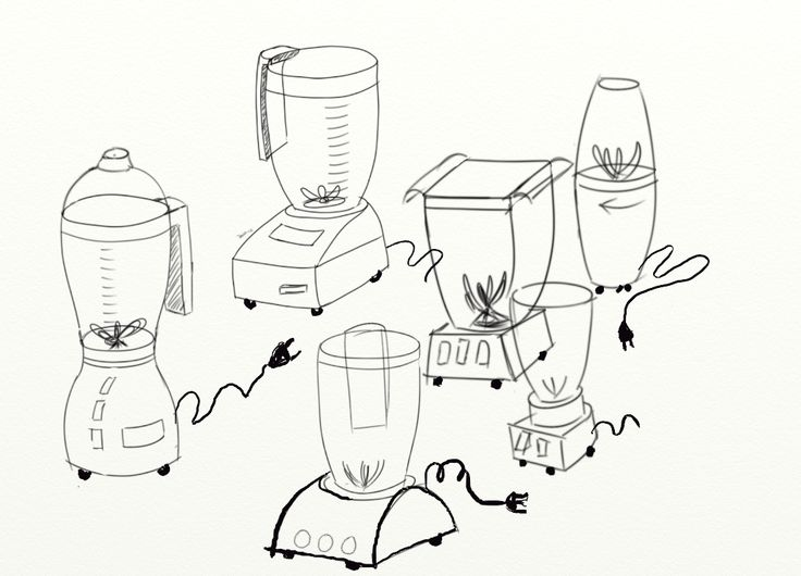 Food Processor Drawing