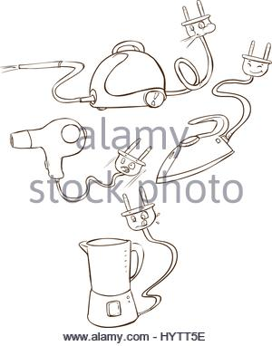 300x382 Drawing Of A Food Processor Stock Photo, Royalty Free Image