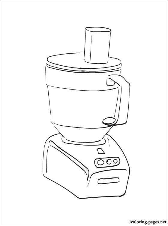 560x750 Food Processor Coloring Page Pages