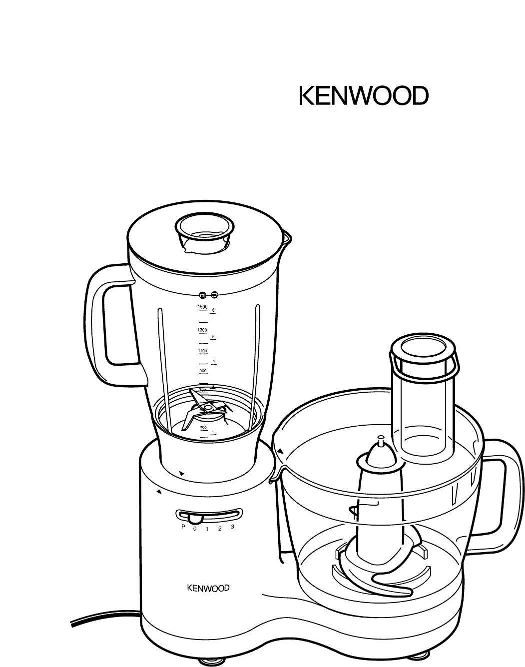 1051x1335 Kenwood Blender Fp520 Series User Guide