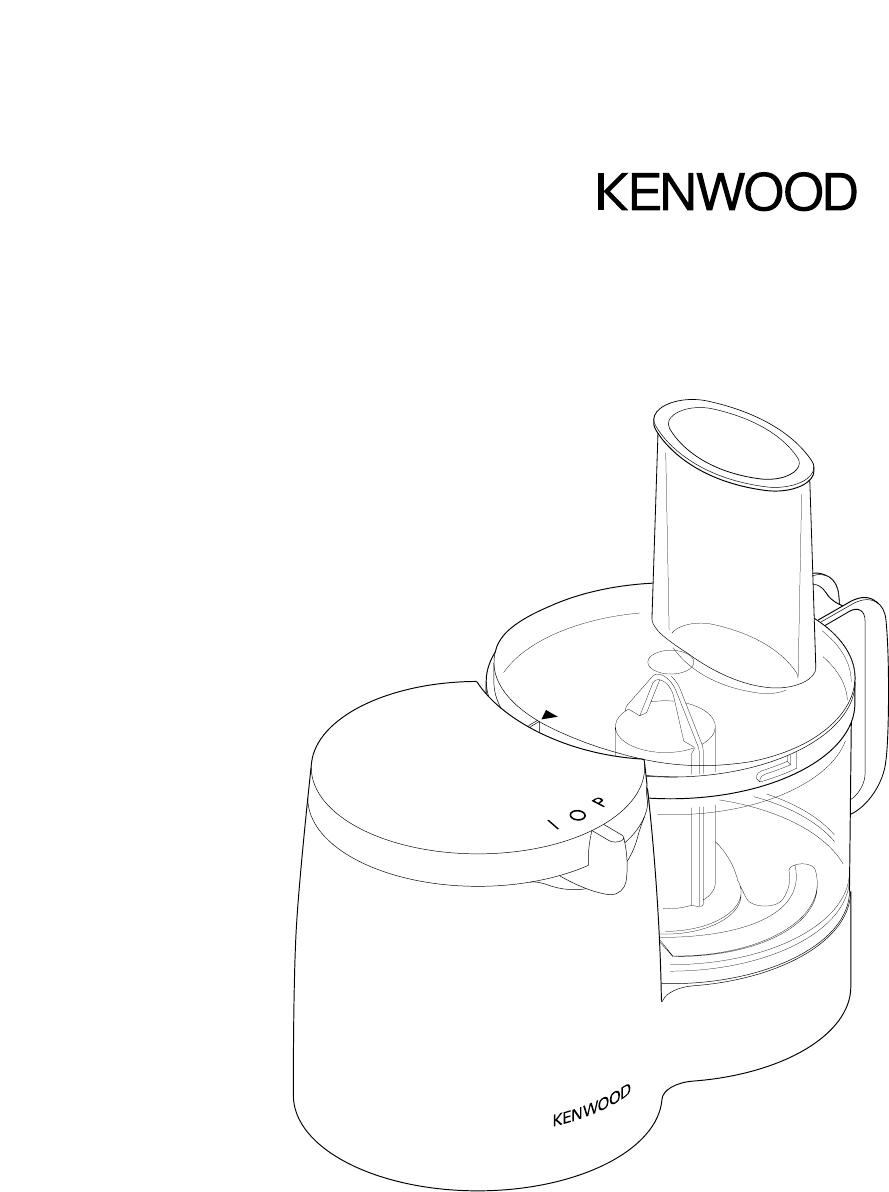 889x1192 Kenwood Food Processor Fp108 Series User Guide