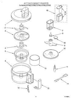 236x325 Kitchenaid 9 And 12cup Food Processor 5disc Set Fits Models