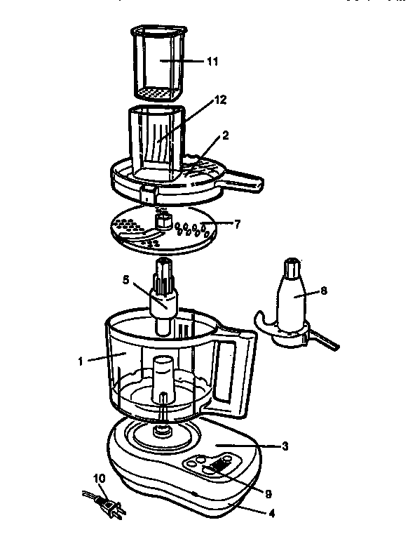592x768 Black Amp Decker Food Processor Parts Model Fp1000 Sears Partsdirect