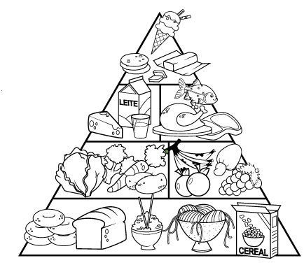 Food Pyramid Drawing