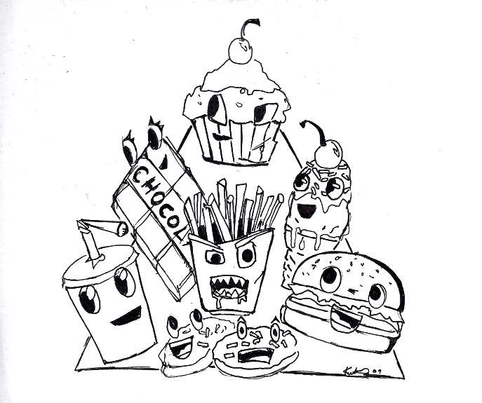 687x575 Food Pyramid Line Drawing By Mrs Rorschach
