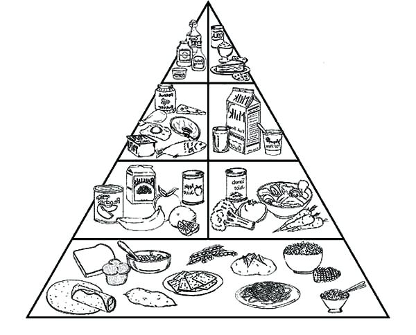 600x484 Healthy Food Coloring Pages Spectacular Food Pyramid Coloring