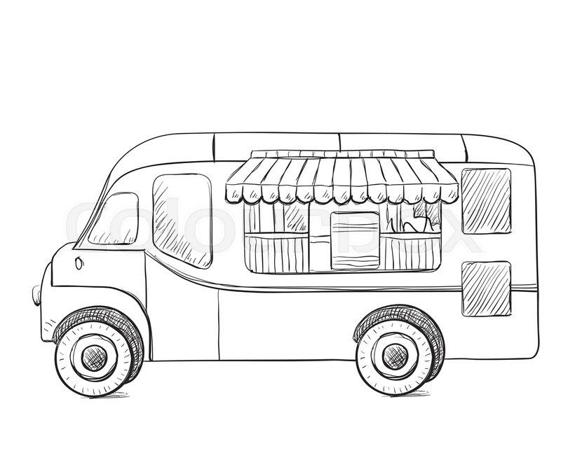Food Trucks Drawn