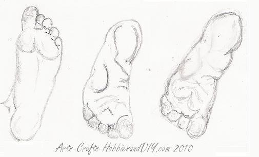 505x306 Feet. How To Draw Feet La Pied Drawing Feet