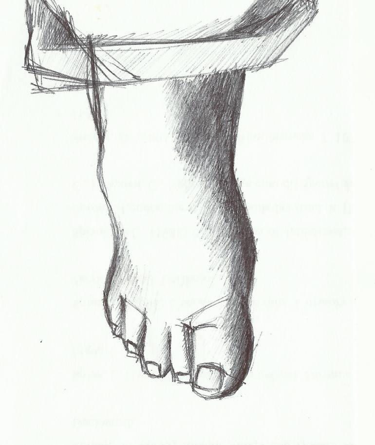 770x914 Saatchi Art The Foot Of Picasso Drawing By Terry May