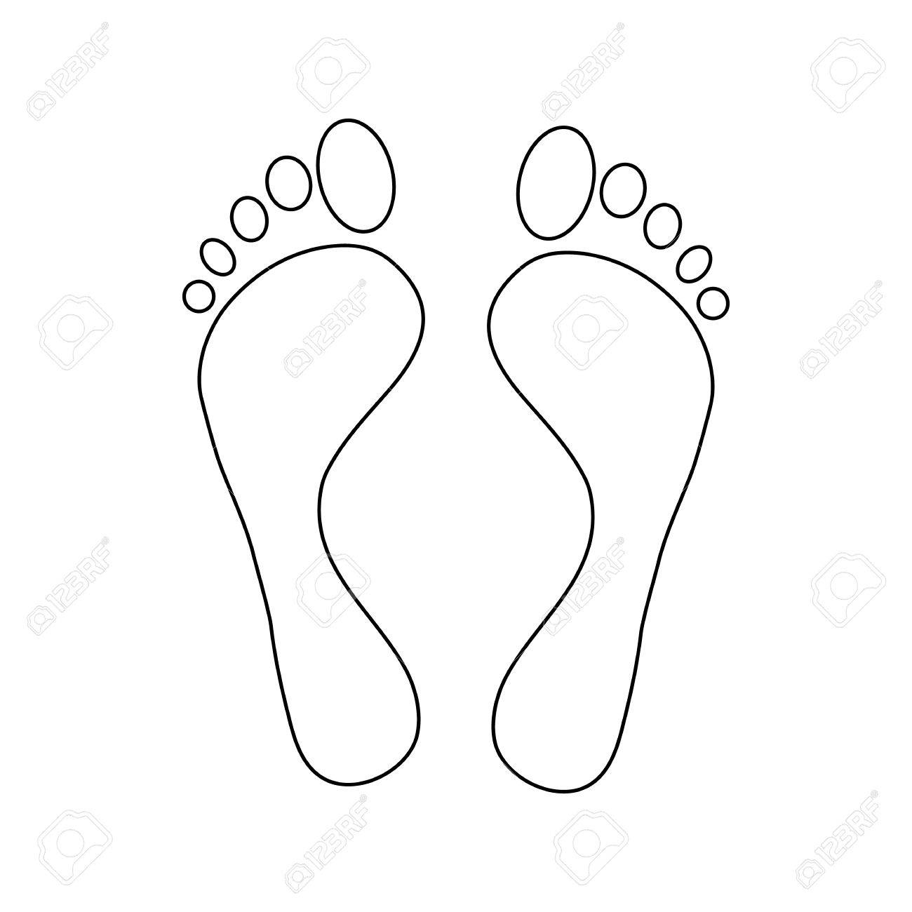 foot outline drawing at getdrawings  free download