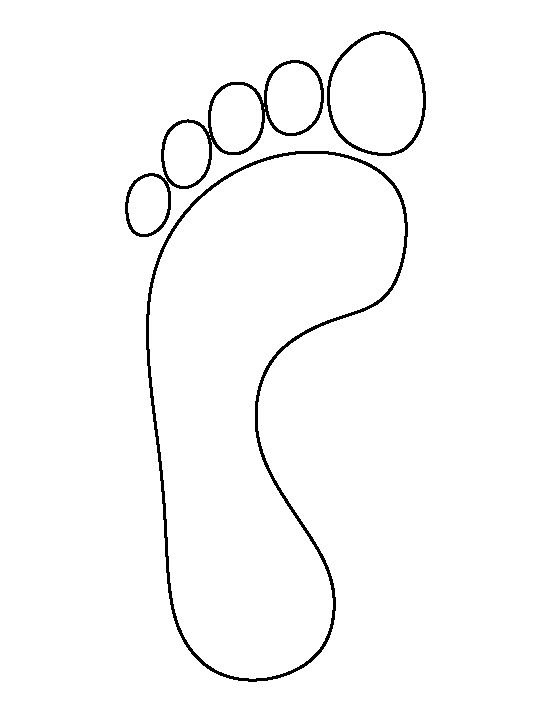 550x712 Baby Feet Pattern Use The Printable Outline For Crafts Creating