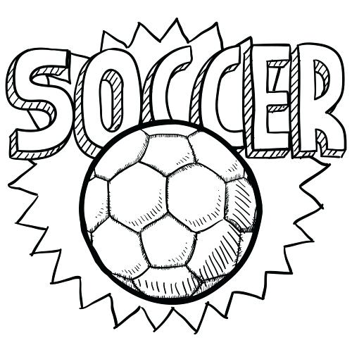 500x500 Coloring Picture Of A Soccer Ball Coloring Picture Of A Soccer