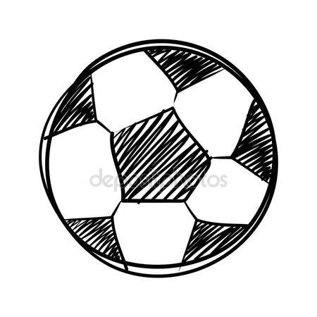 450x450 Ink Sketch Of A Soccer Ball With White Fill Stock Vector