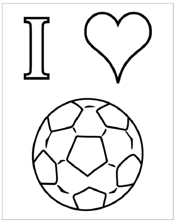 600x755 Coloring Pages Of Soccer Balls Draw Soccer Ball Print For Line