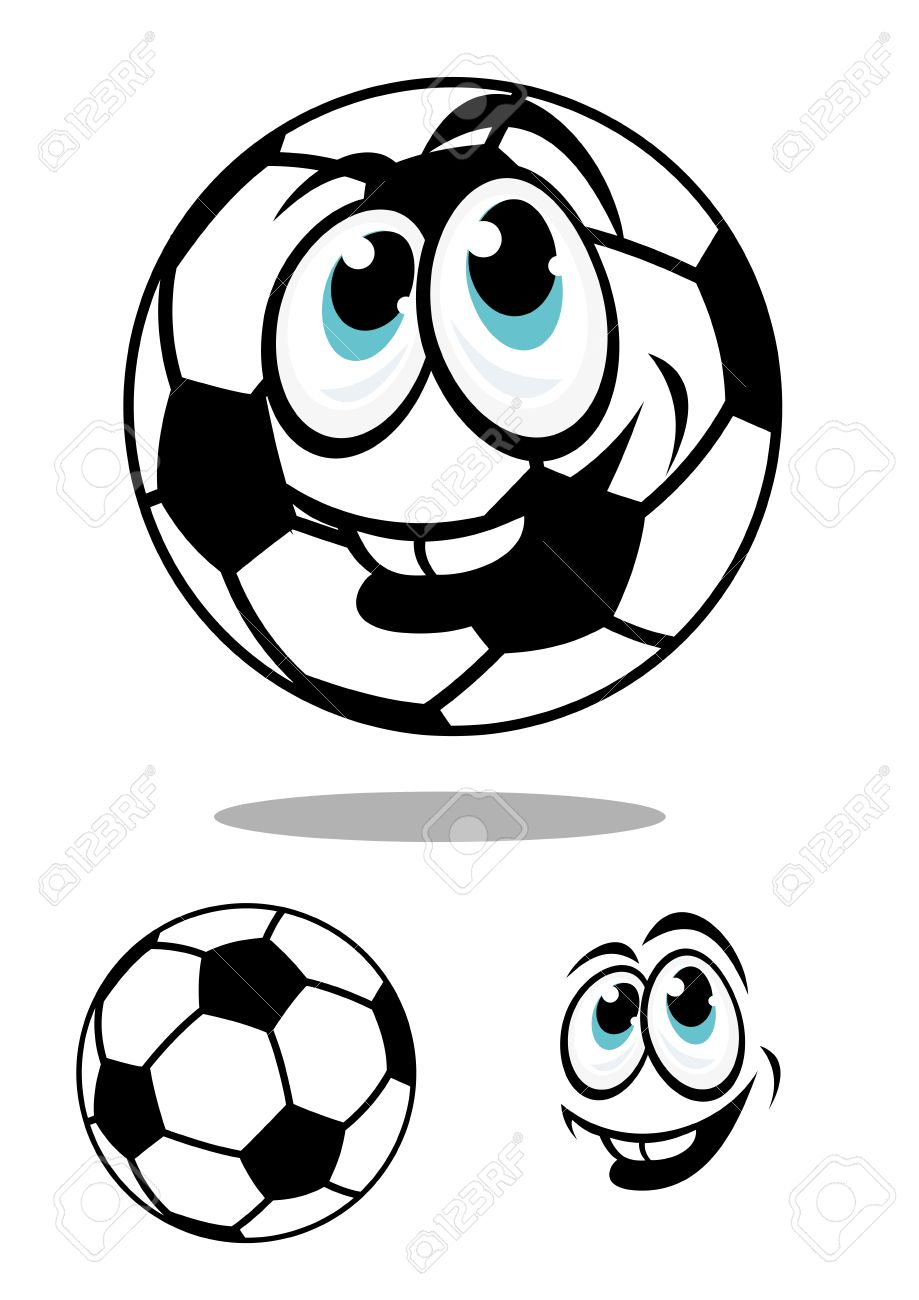919x1300 Cartoon Soccer Or Football Ball Character With A Happy Smile