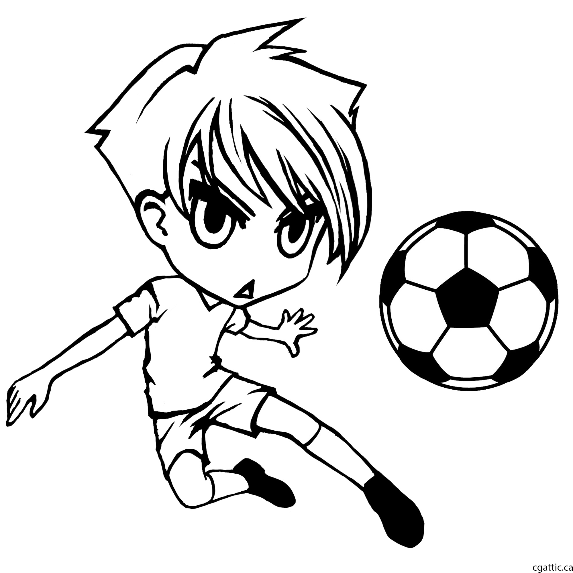 2000x2000 Cartoon Soccer Player Drawing In 4 Steps With Photoshop Soccer
