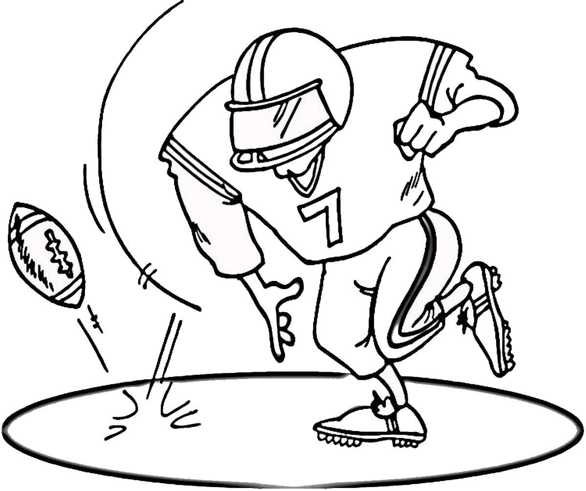 1200x1005 Football Coloring Pages Printable Free