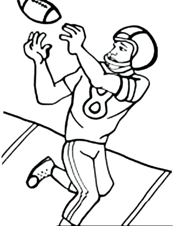 600x776 Football Players Coloring Pages Player To Print Online Cartoon Car