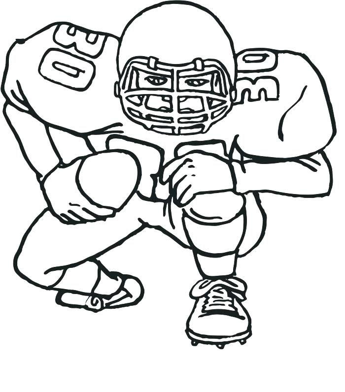 700x796 Football Players Coloring Pages Genesisar.co