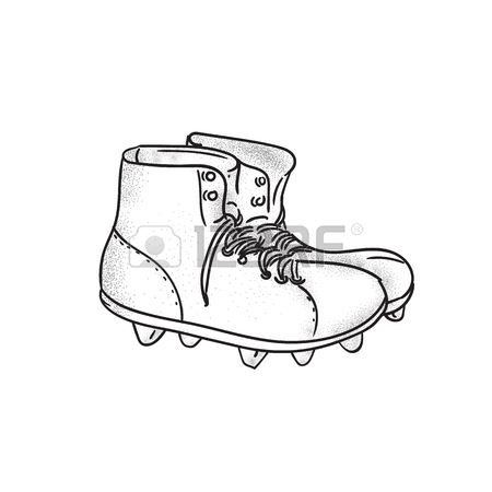 Football Cleats Drawing
