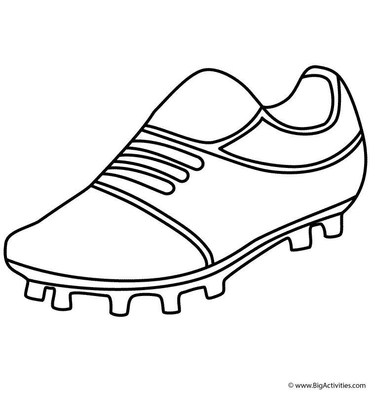 750x800 Football Cleats Coloring Page Newtton Cam Football Cleats Coloring