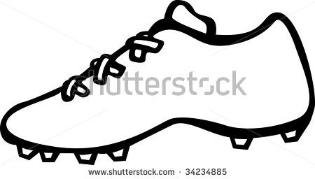 450x256 Unique Football Boots Clipart Sport Shoe With Cleats Stock Clipart