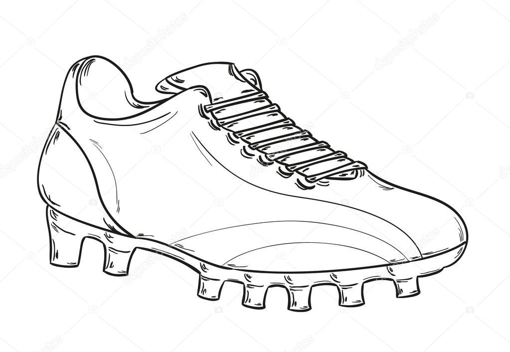 1023x706 Football Boots Sketch Stock Vector Muuraa