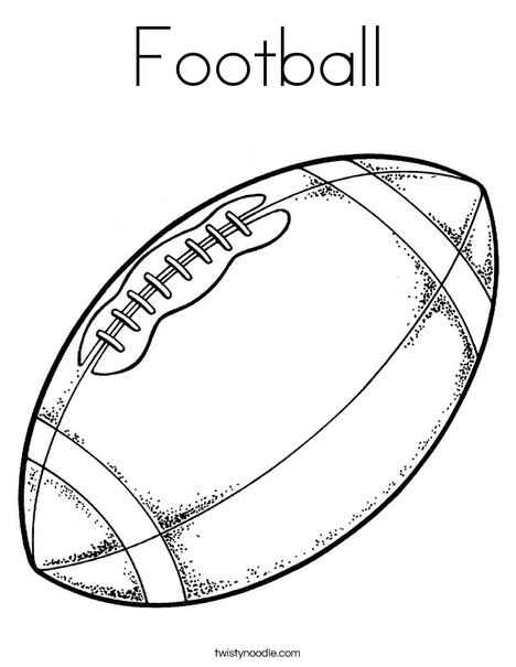 468x605 Football Coloring Page