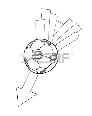 360x450 Hand Draw Football Ball Isolated Illustration On White Background