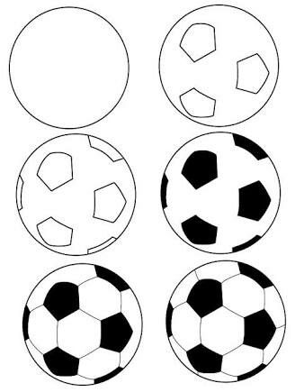 338x435 Hw To Draw A Football Printables Rock Painting