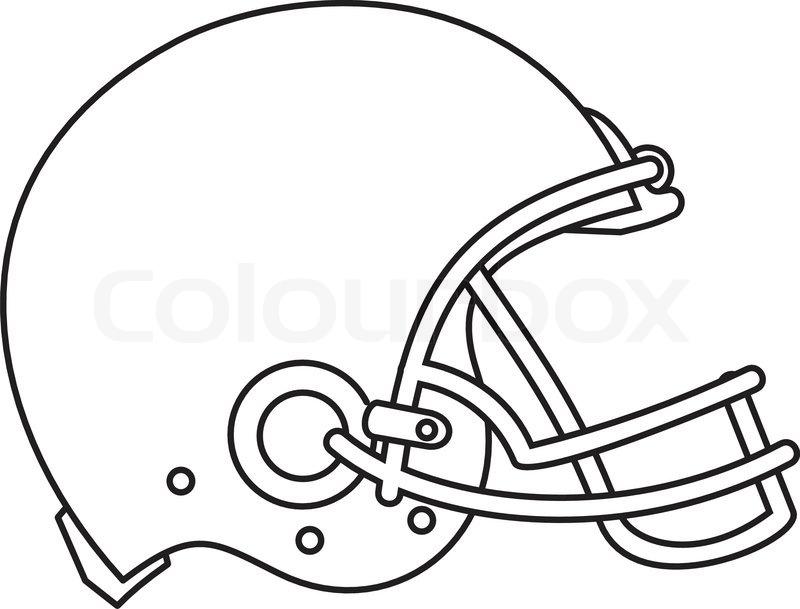 800x609 Line Drawing Illustration Of An American Football Helmet Viewed