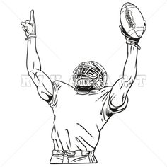 236x236 How To Draw Football Players Football Player Coloring Pages