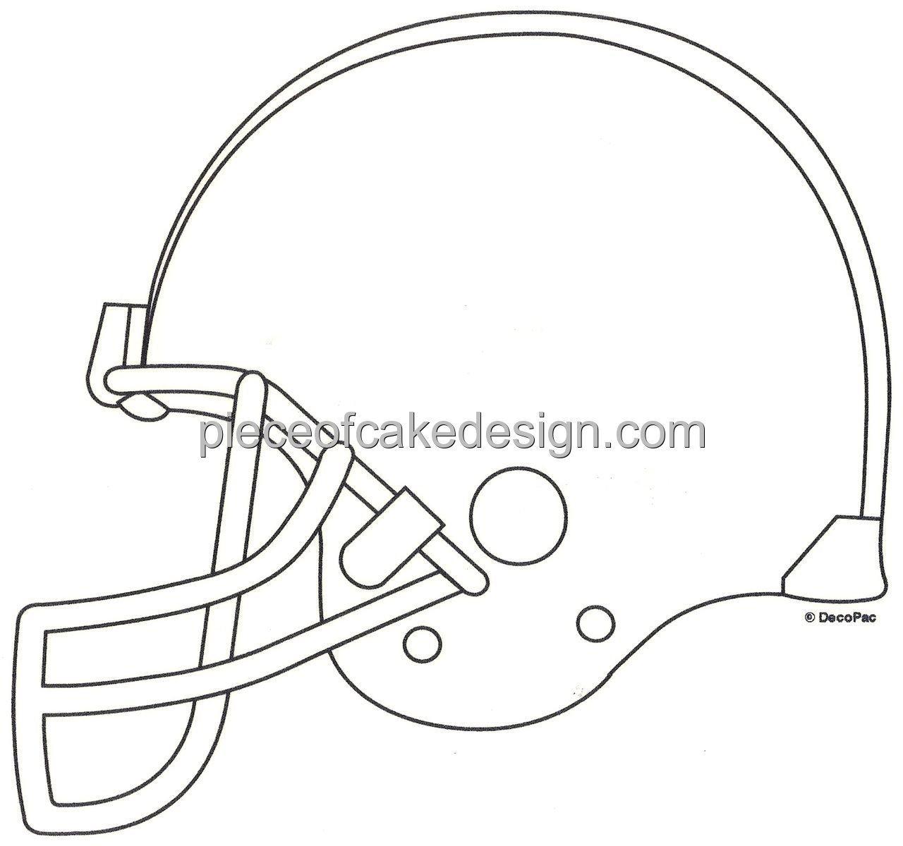1280x1200 14 Sheet ~ Football Helmet Line Art ~ Edible Image Cakecupcake