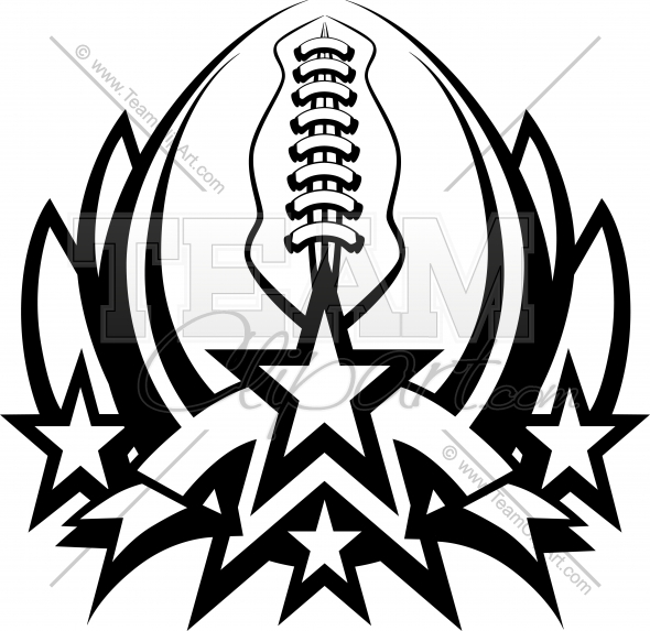 590x573 Football Logo Clipart Image. Easy To Edit Vector Format.