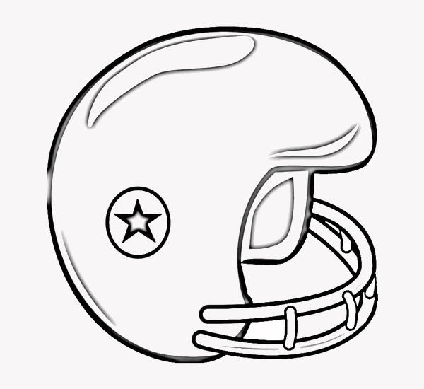 600x550 Football Coloring Pages