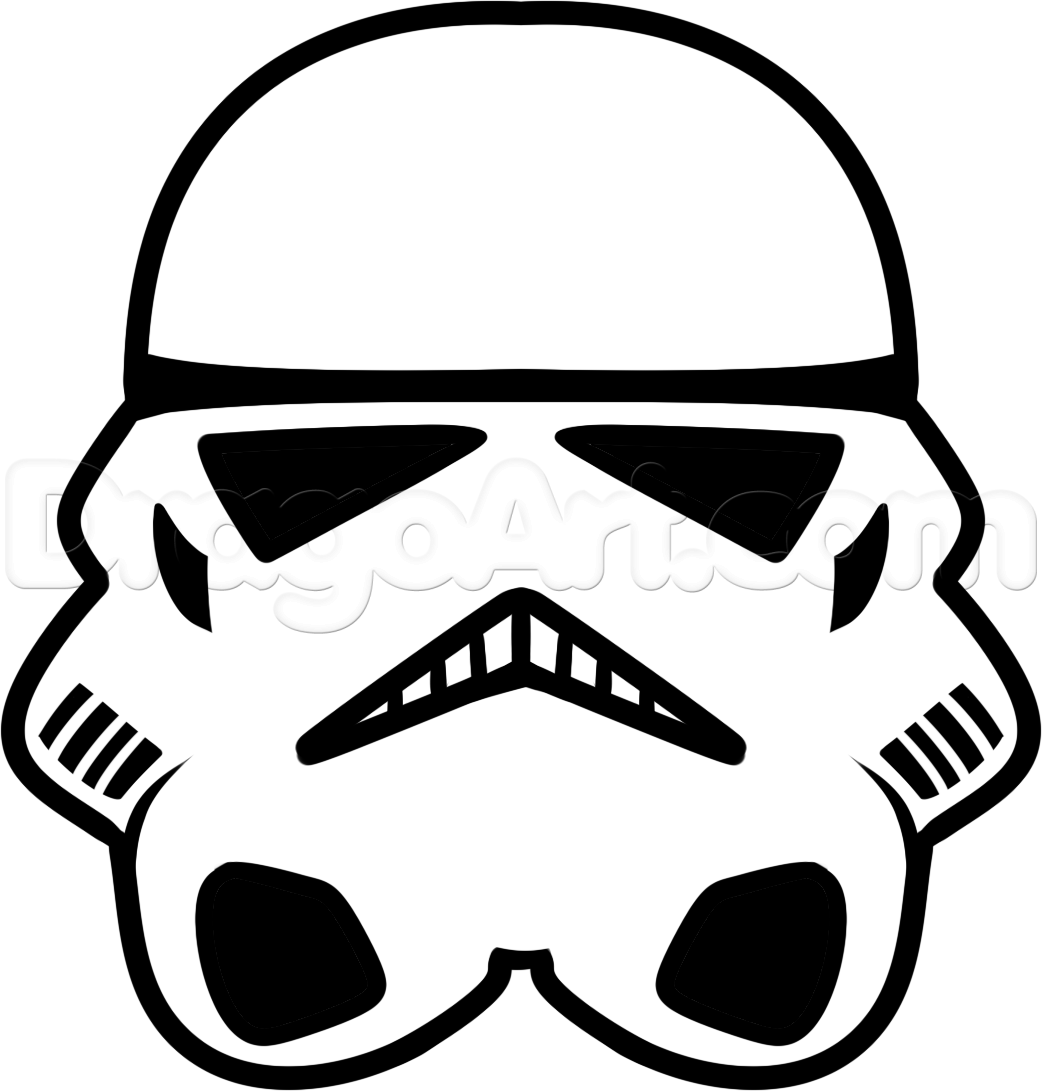 1042x1091 How To Draw A Stormtrooper Easy, Step By Step, Star Wars