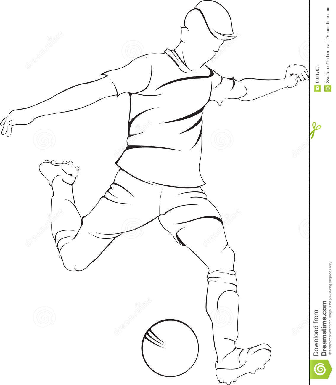1135x1300 Soccer Player Drawing How To Draw Cartoon Soccer Player