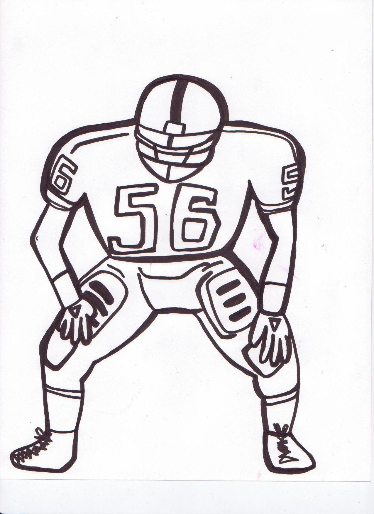 1275x1750 Football Player Outline Az Coloring Pages. Pin Drawn Football Line