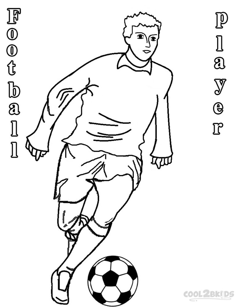 850x1063 Football Player Coloring Pages