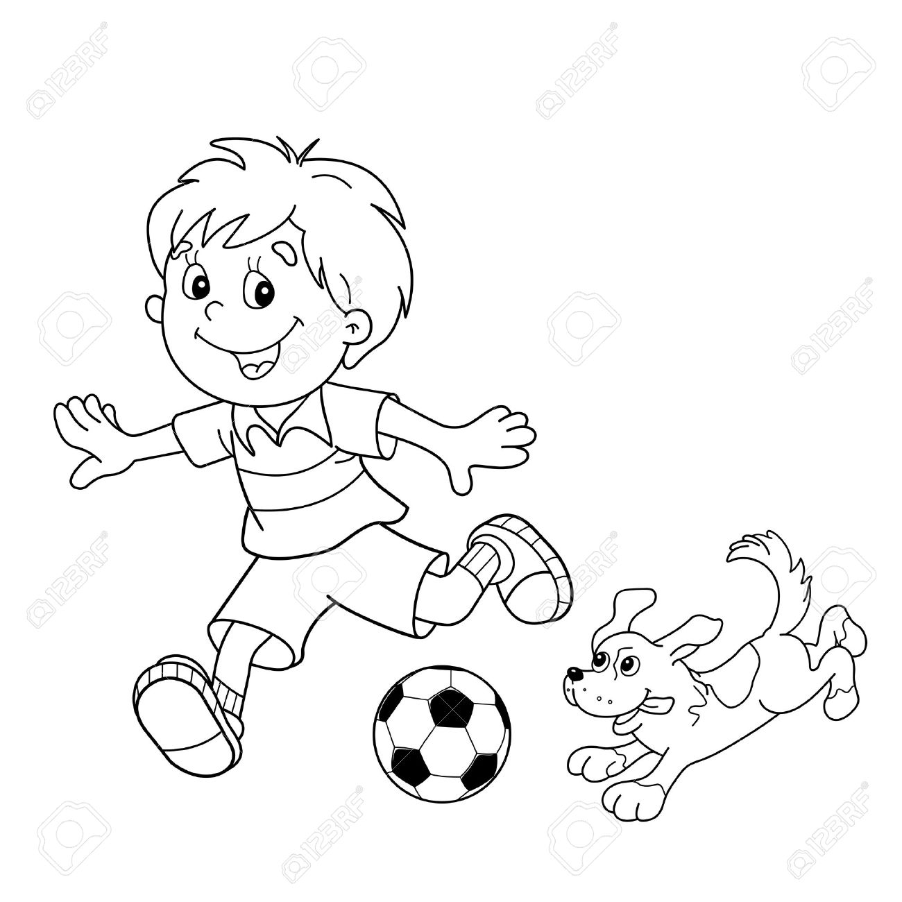 Football Drawing For Kids at GetDrawings.com | Free for personal use ...