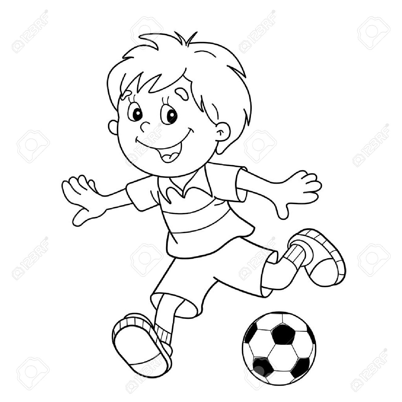 Football Drawing For Kids at GetDrawings.com   Free for personal use ...